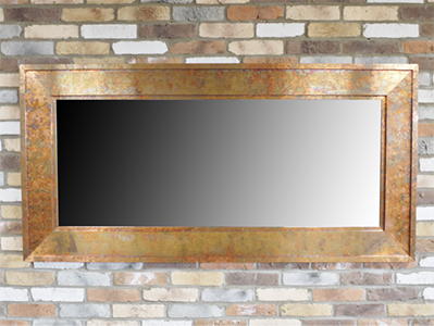 Rectangular Mirror Copper Finish