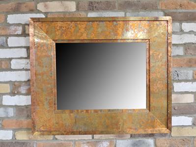Square Mirror Copper Finish