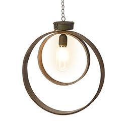 Hanging Metal Two Circle Light