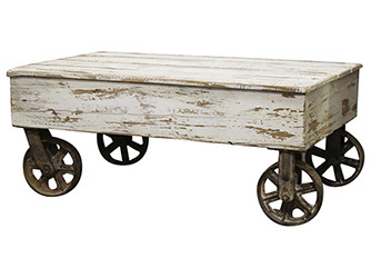 French Coffee Table on Wheels