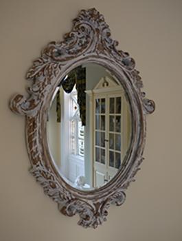 Oval Ornate Mirror