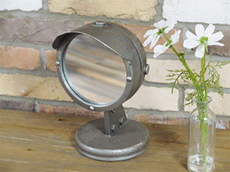 Industrial Mirror on Stand