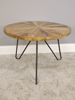 Beautiful Wood Patterned Coffee Table