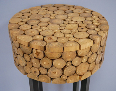 Log Plant Stand / Side Table