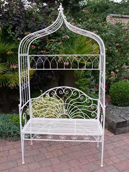 White Garden Arbour Seat