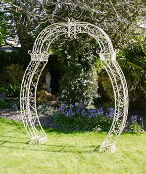 Cream Garden Arch
