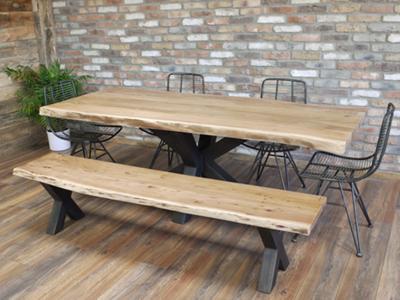 Living Edge Dining Table Set
