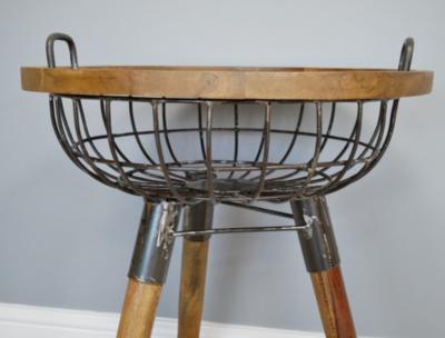 Ivan Basket Side Table