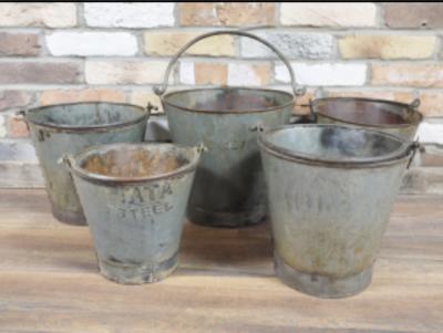 Set of 5 Retro Buckets