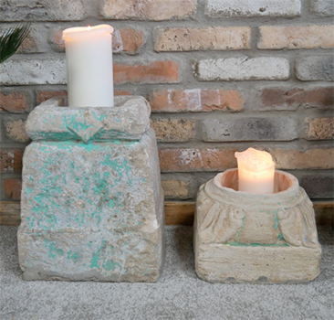 Original Indian Pillar Base Candle Holder / Planter