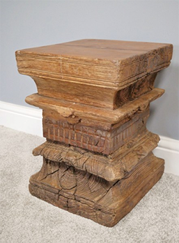 Original Indian Pillar Wooden Stool