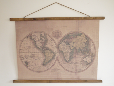 Wall Décor Map of the World