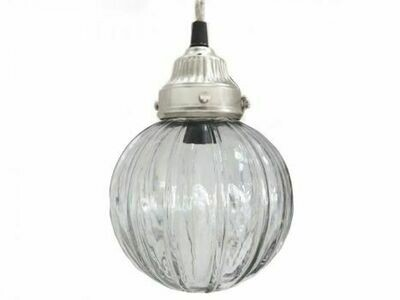 French Globular Glass Light Fitting