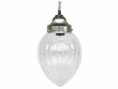 Grooved Glass French Light Fitting