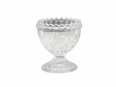 Set of 6 Pearl Edge Glass Egg Cups