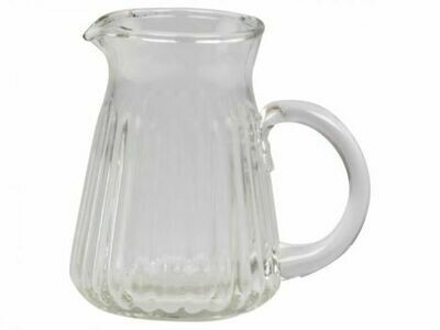 Grooved Glass Water Jug