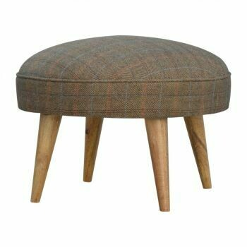 Multi Tweed Nordic Style Footstool