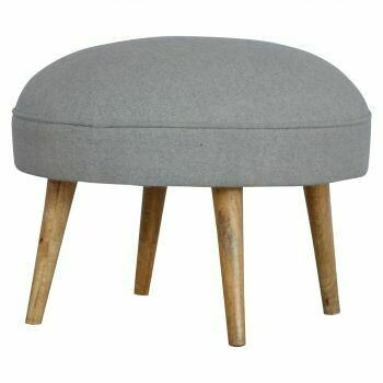 Grey Tweed Nordic Style Footstool