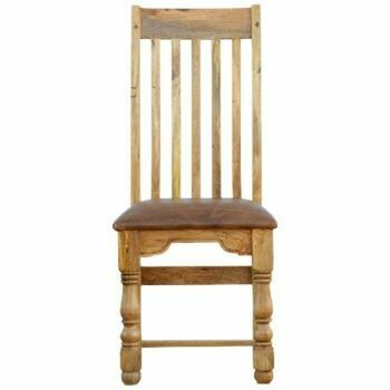 Buffalo Hide Leather Seat Dining Chair