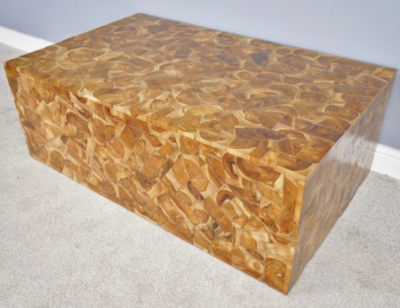 Teak Wood Jigsaw Coffee Table