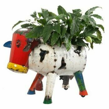 Recycled Clarence Cow Planter