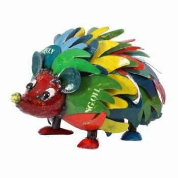 Recycled Harry Hedgehog Sculpture