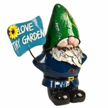Recycled Larry Gnome - Love thy Garden Sculpture
