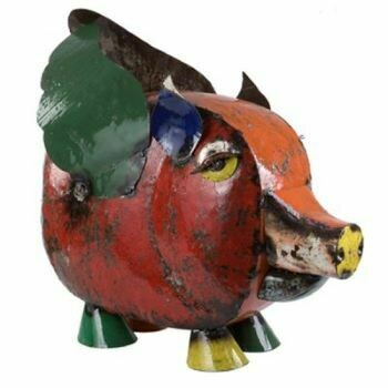 Recycled Priscilla Pig Sculpture