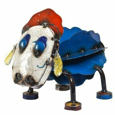 Recycled Ewe Sheep Sculpture