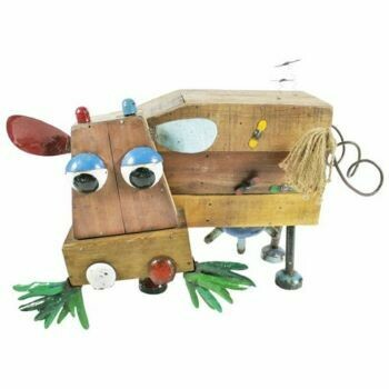 Dolly P Recycled Wooden Sculpture