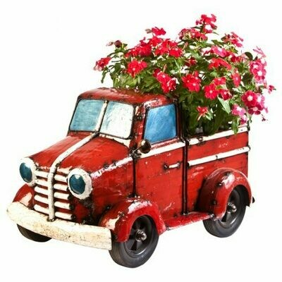 Recycled Mini Pick Up Truck Planter and Cooler Sculpture