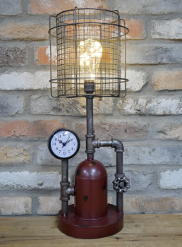Industrial Pressure Light and Clock