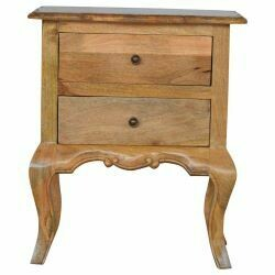 Bedside Cabinet with Cabriole Legs