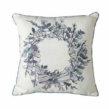 Pair of Floral Wreath Cushions