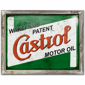 Castrol Advert Metal Picture