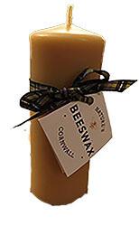 Natural Beeswax Pillar Candle