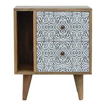 Artea Porcelain Pattern Mini Cabinet
