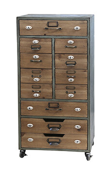 Old French Twelve Drawer Chest