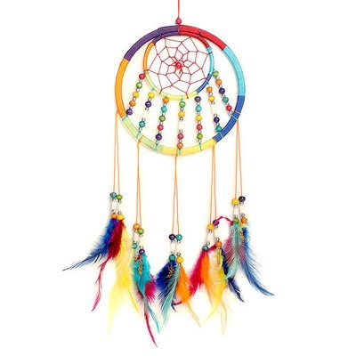 Dreamcatcher Rainbow with 7 Rows of Beads