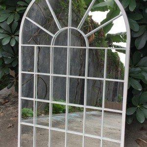 Cream Garden Arch Garden Mirror