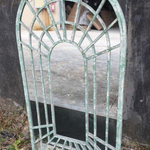 Rustic Green Garden Mirror