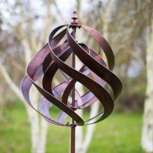 Saturn Copper Wind Sculpture