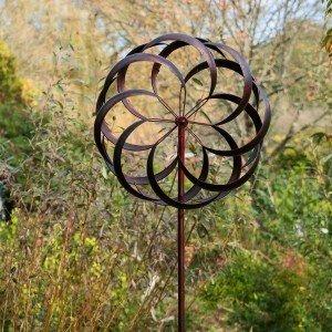 Granchester Burnished Gold Wind Sculpture
