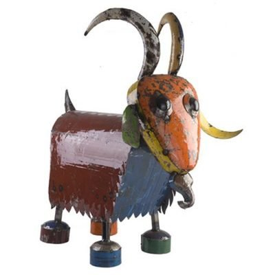 Billy the Goat Recycled Sculpture