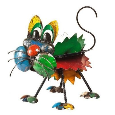 Kitty the Cat Recycled Sculpture