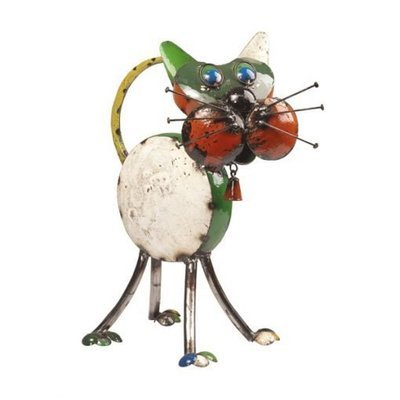 Tabitha the Cat Recycled Sculpture