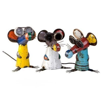 Three Blind Mice Recycled Sculpture