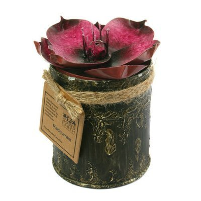 Fair Trade Recycled Shabby Chic Candle - Red Currant