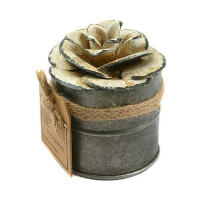 Fair Trade Recycled Shabby Chic Candle - Pomegranate