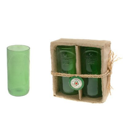 Fair Trade Recycled Heineken Bottle Tumblers